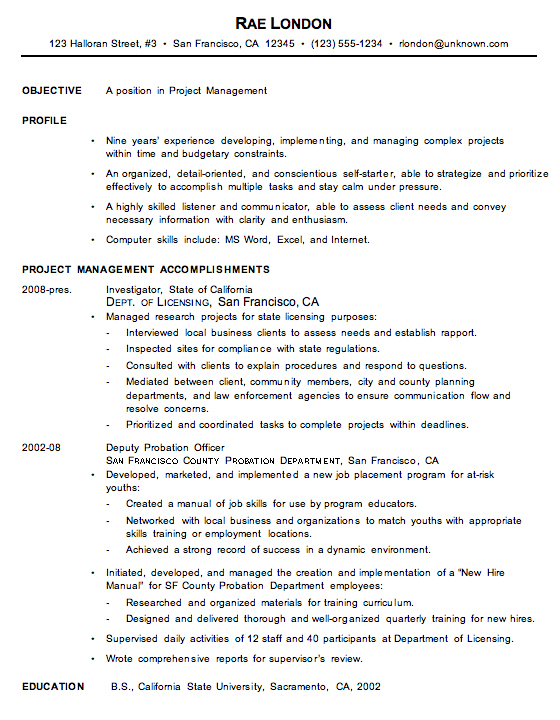 Chronological  Skills To Include In A Resume